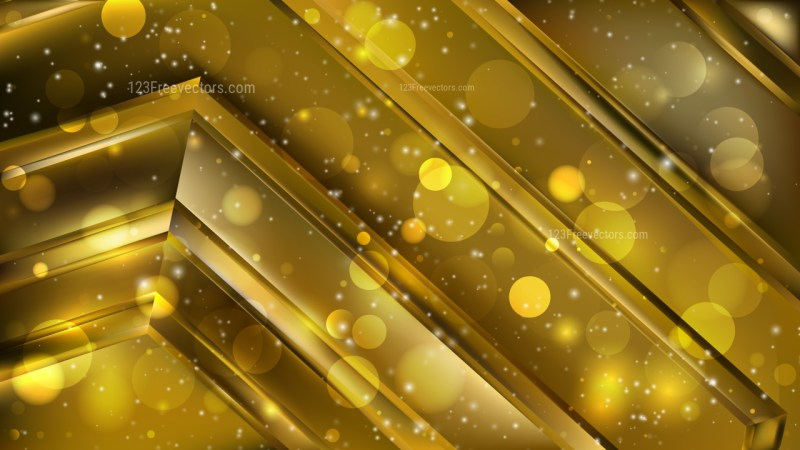 Abstract Black and Gold Blurry Lights Background Image