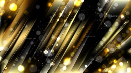 Abstract Black and Gold Defocused Background Image