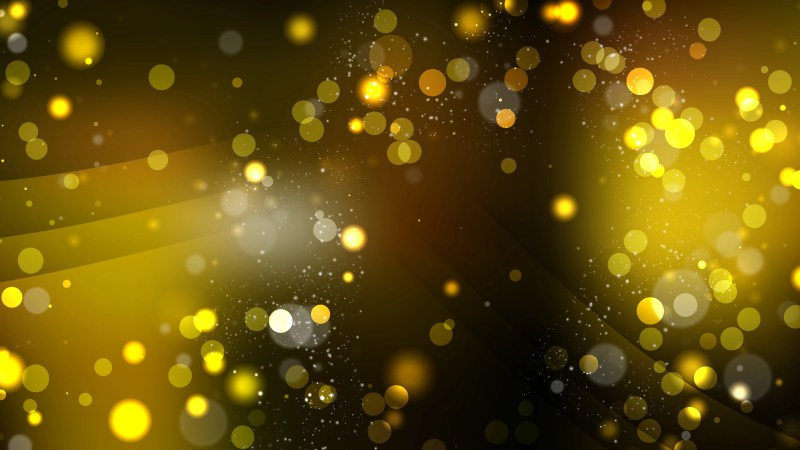 Abstract Black and Gold Blurred Bokeh Background Image