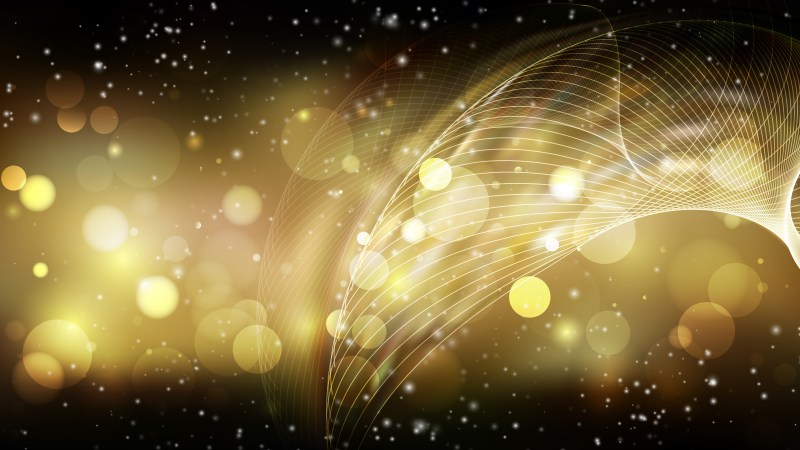 Abstract Black and Gold Bokeh Defocused Lights Background Image