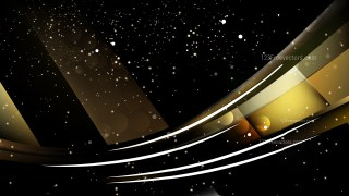 Abstract Black and Gold Blurred Lights Background Design