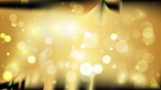Abstract Black and Gold Blur Lights Background Design