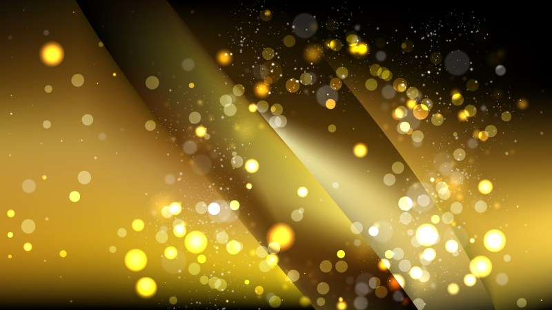 Abstract Black and Gold Bokeh Background Design