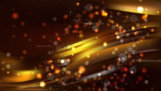 Abstract Black and Gold Bokeh Lights Background Design