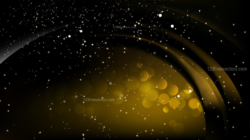 Abstract Black and Gold Lights Background Design