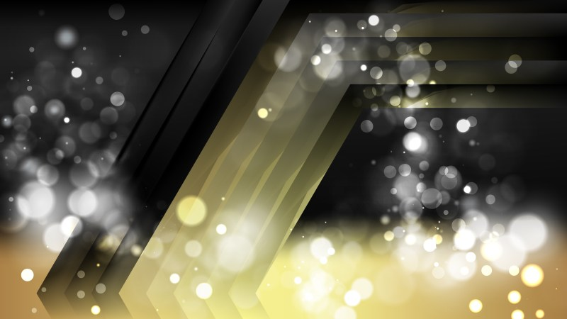 Abstract Black and Gold Defocused Background Design