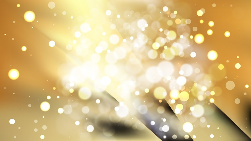 Abstract Black and Gold Bokeh Background