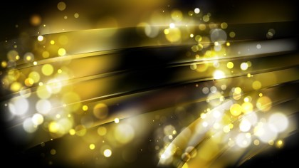 Abstract Black and Gold Bokeh Lights Background
