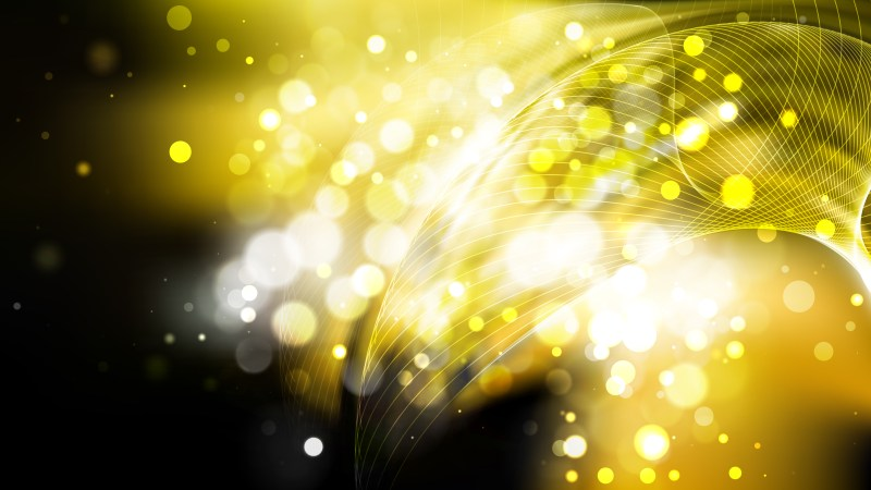 Abstract Black and Gold Blurred Lights Background