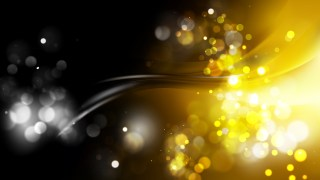 Abstract Black and Gold Blurry Lights Background
