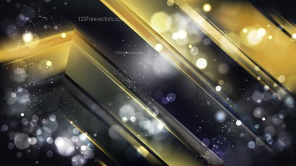 Abstract Black and Gold Lights Background