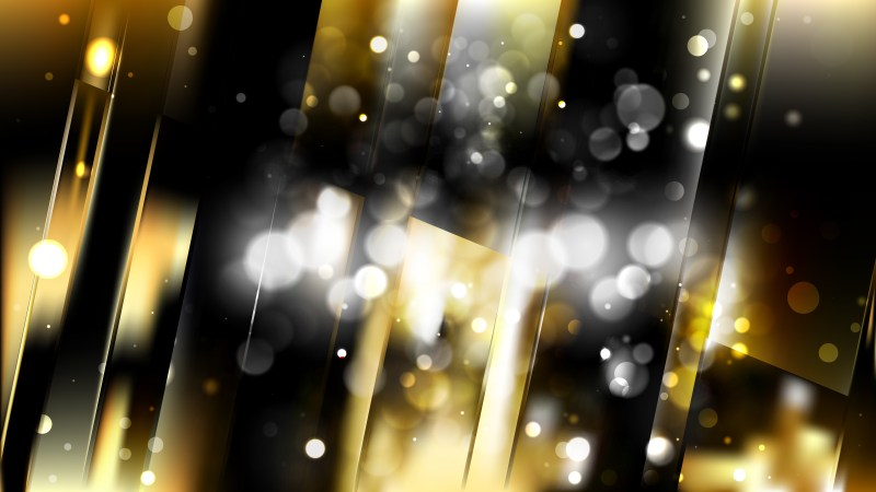 Abstract Black and Gold Defocused Background