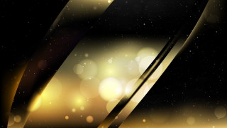 Abstract Black and Gold Bokeh Defocused Lights Background