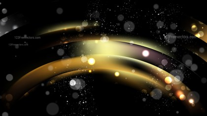 Abstract Black and Gold Blur Lights Background