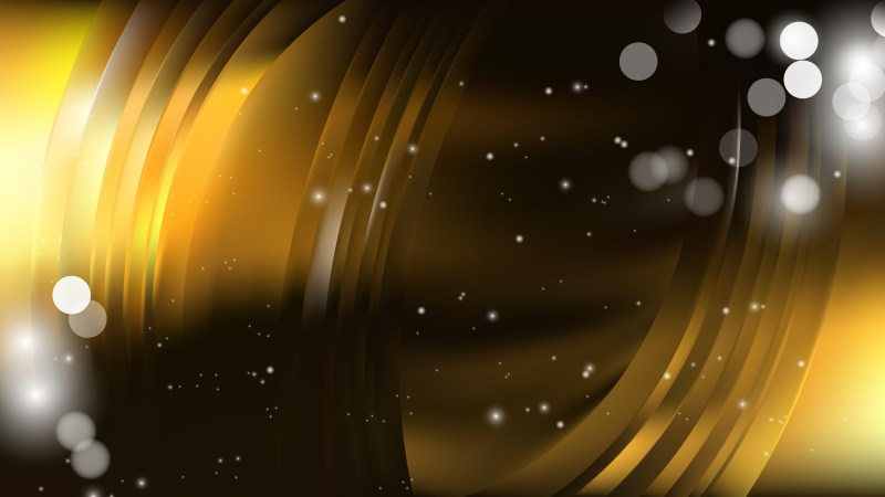 Abstract Black and Gold Defocused Lights Background