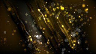 Abstract Black and Gold Lights Background Vector