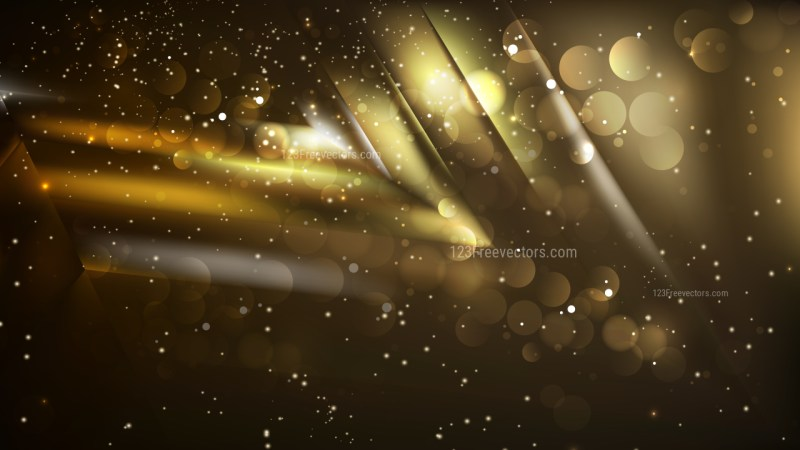 Abstract Black and Gold Defocused Background Vector
