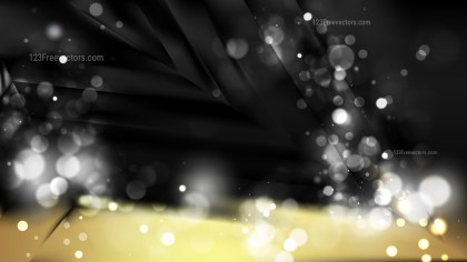 Abstract Black and Gold Bokeh Defocused Lights Background Vector