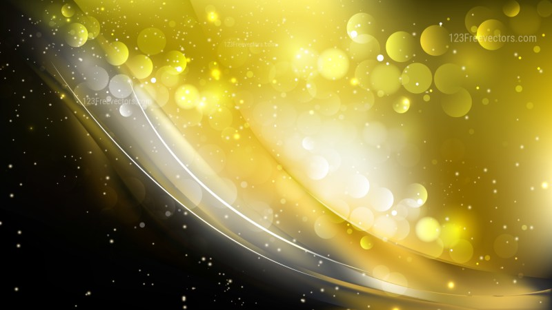 Abstract Black and Gold Bokeh Lights Background Vector