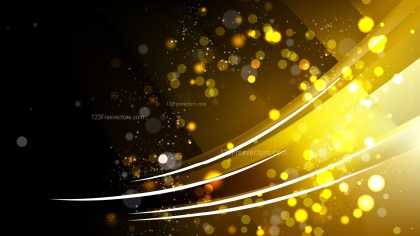 Abstract Black and Gold Blurred Lights Background Vector