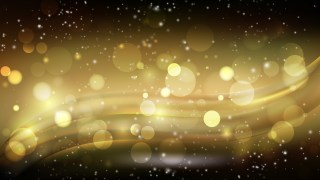 Abstract Black and Gold Blur Lights Background Vector