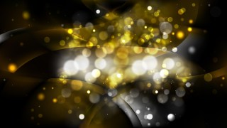 Abstract Black and Gold Blurry Lights Background Vector