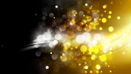 Abstract Black and Gold Blurred Bokeh Background Vector