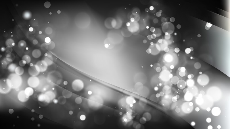 Abstract Black and Grey Blurred Bokeh Background Image