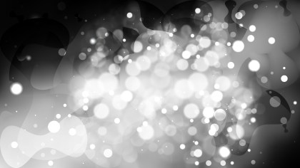 Abstract Black and Grey Bokeh Background Image