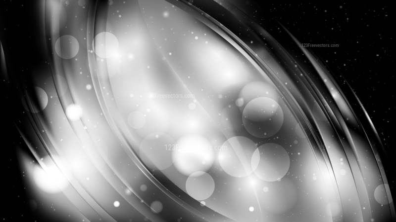 Abstract Black and Grey Blurred Bokeh Background Design