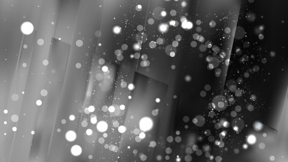 Abstract Black and Grey Bokeh Defocused Lights Background