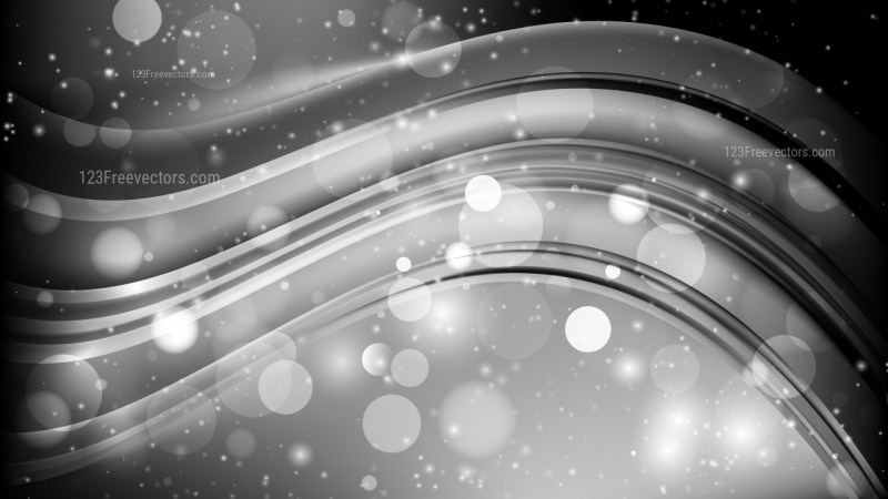 Abstract Black and Grey Lights Background