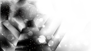 Abstract Black and White Blurry Lights Background Vector