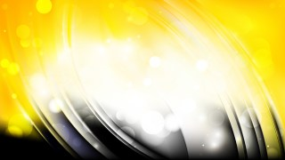 Abstract Black and Yellow Blurred Lights Background Vector