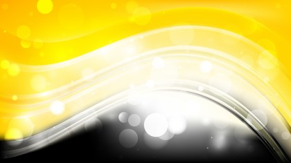 Abstract Black and Yellow Defocused Lights Background Vector