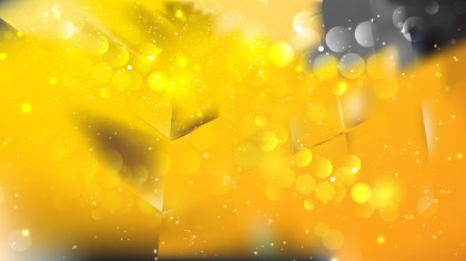 Abstract Black and Yellow Blurred Bokeh Background Vector