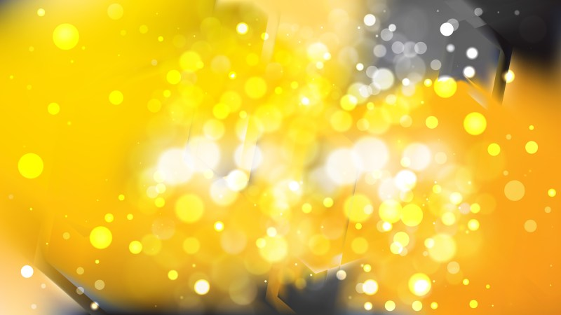 Abstract Black and Yellow Bokeh Lights Background Image