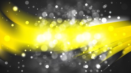 Abstract Black and Yellow Blur Lights Background Image