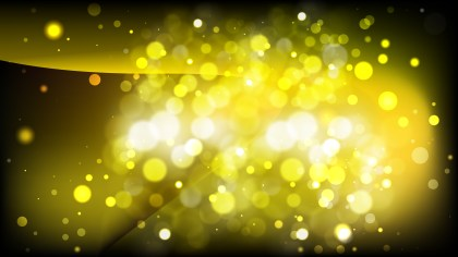 Abstract Black and Yellow Blurry Lights Background Image