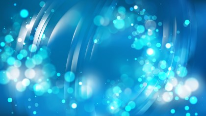 Abstract Blue Blurred Bokeh Background Image