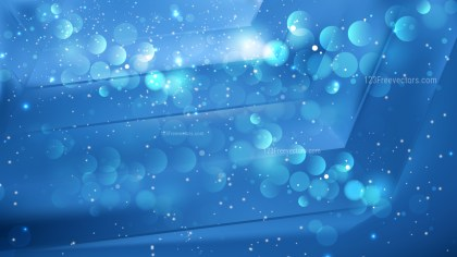 Abstract Blue Defocused Lights Background Design