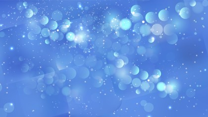 Abstract Blue Defocused Lights Background