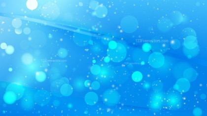 Abstract Blue Bokeh Background Vector