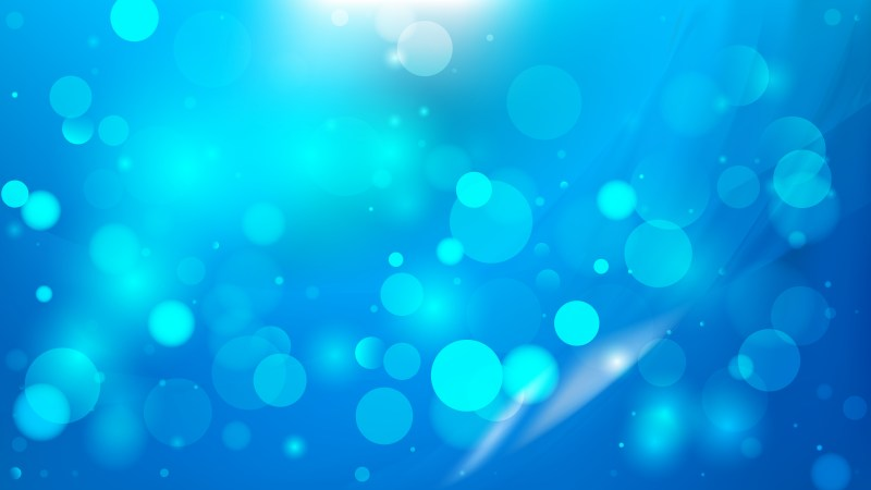 Abstract Blue Bokeh Lights Background Vector