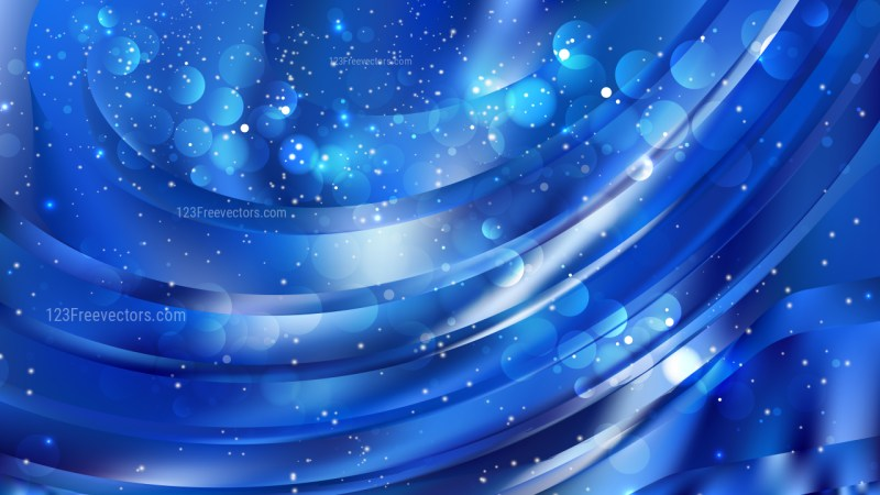 Abstract Blue Bokeh Defocused Lights Background Image