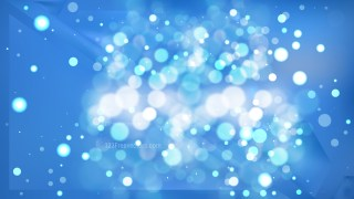 Abstract Blue Blurred Bokeh Background Design