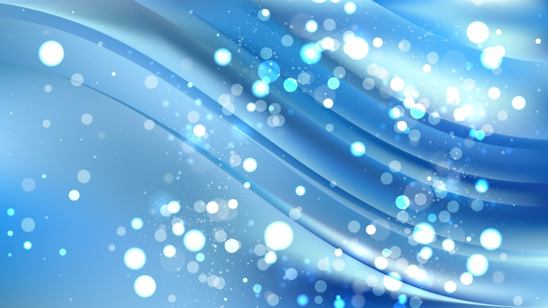 Abstract Blue Blurred Lights Background Vector