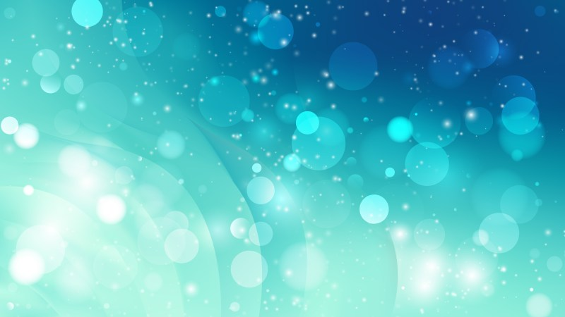 Abstract Blue Blurred Bokeh Background Vector