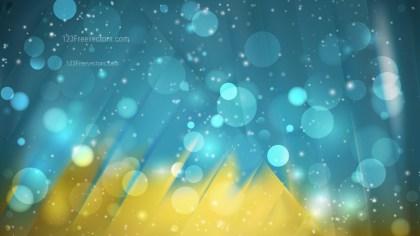 Abstract Blue and Gold Blur Lights Background