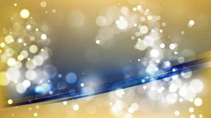 Abstract Blue and Gold Bokeh Background Vector
